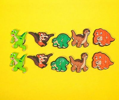 Land Before Time 10 Shoe Charms Set  for  fits Jibbitz Clogs Crocs  Wristbands
