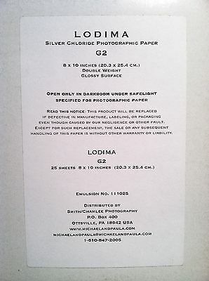 Lodima G2 Silver Chloride Photographic Paper, Contact (Azo, Fomalux, Lupex) 25
