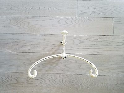 Vtg Style Shabby Cast Iron Wall Mounted Valet Stand Coat Hat Hook Ocean Liner