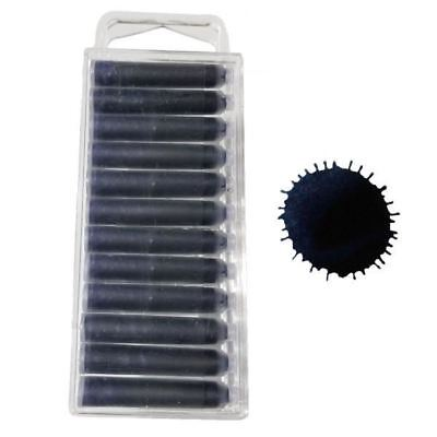 5280 Midnight Blue/Black Fountain Pen Ink Cartridges - 12 Pack
