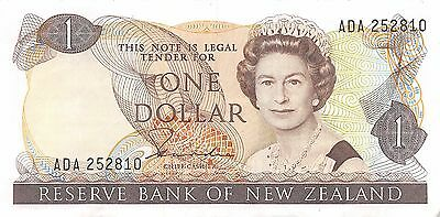 New Zealand  $1  ND. 1985  P 169a  Series  ADA  Circulated Banknote