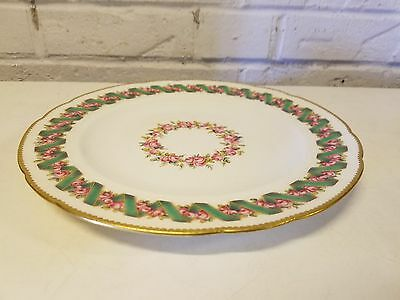Antique Mid 19th Century Minton Porcelain English Plate w/ Pink Rose Decorations