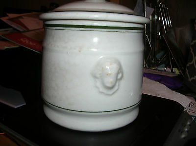 """Antique 1940's 5"""" x 3 3/4"""" Sugar Bowl with Head of George Washington Never Used"""