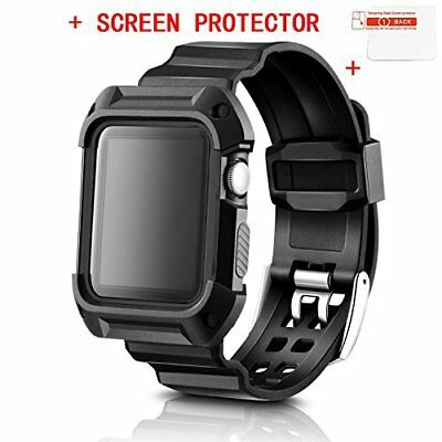 Apple Watch 42mm Band Case With Straps Shock-proof Protector Cover Series 1 / 2