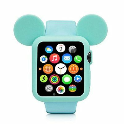Apple Watch 38mm Case Bumper Rugged Armor Rubberised Cover Series 1/2 Turquoise