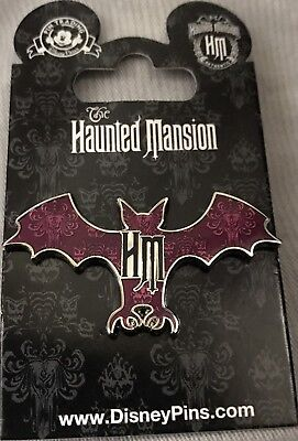 Disney Parks Haunted Mansion Wallpaper Bat Silhouette Pin NEW ON CARD WDW