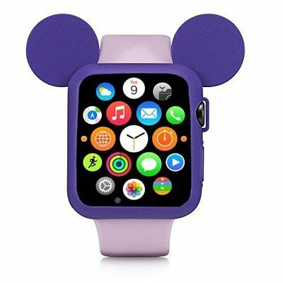 Apple Watch 38mm Case Bumper Rugged Armor Rubberised Cover Series 1 / 2 Purple