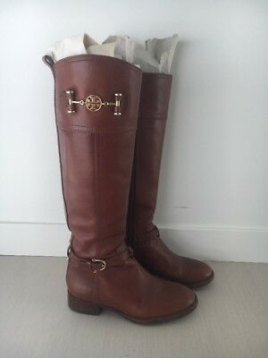 3f4af2397b03 TORY BURCH BROWN Leather Riding Boots Size 5 -  199.99