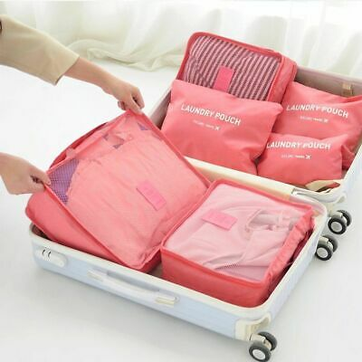 9Pcs Waterproof Travel Storage Bags Clothes Packing Cube Luggage Organizer Pouch