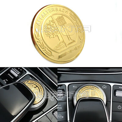 Car Multimedia Button Cover 3D Emblem Sticker for Benz W213 W205 GLE GLS S Class