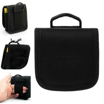 Portable Small Nylon Storage Pouch Bag Carrying Case For 4x 18650 Li-ion Battery