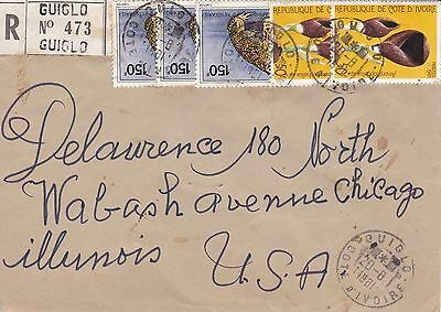 BD797) Ivory Coast 1981 nice registered cover to USA