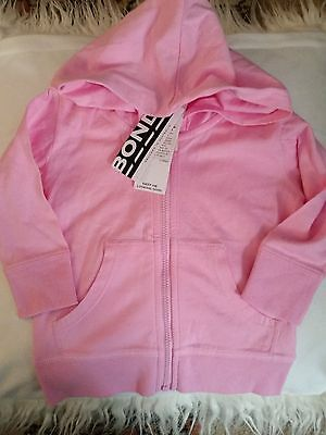Nwt babies bonds cotton zip up hoodie size 00