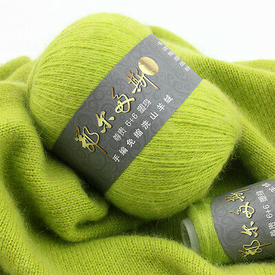 50+20g Erdos Yarn 100% Hand Knitting Cashmere Solid Color Extremely Soft 40color