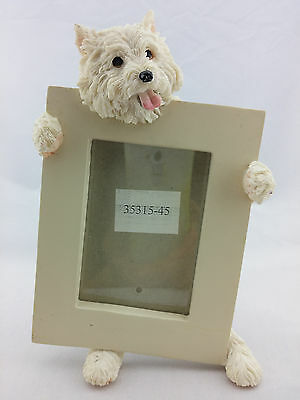 """2 1/2"""" X 3 1/2"""" Westie Picture Frame West Highland White Terrier 6"""" E&s Imports"""