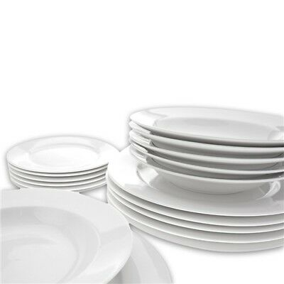 New Maxwell & Williams White Basics York 18 Piece Dinner Set - Gift Boxed