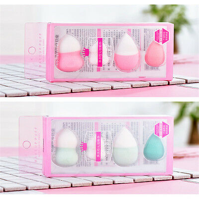 4pcs Makeup Sponge Professional Beauty Flawless Puff Smooth Powder Foundation