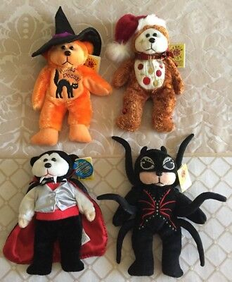 Bulk 4 Beanie Kids -  Halloween & Christmas - New with Tags - Lot 7