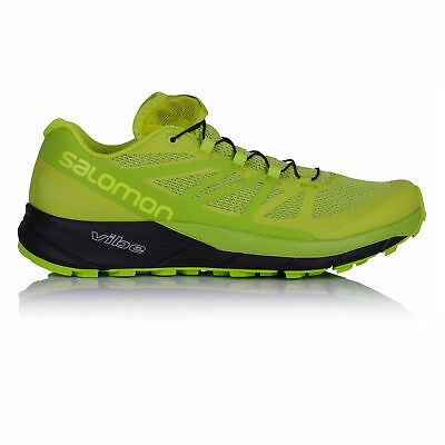 Salomon Sense Ride Mens Green Trail Running Sports Shoes Trainers Sneakers