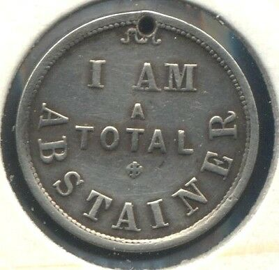 Stokes Silver Medalet, I Am A Total Abstainer, Unlisted In Carlisle Circa 1885