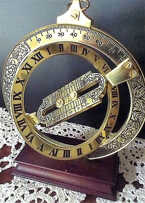 Franklin Mint / Universal Ring Dial / Ringsonnenuhr / Entdecker Messinstrument