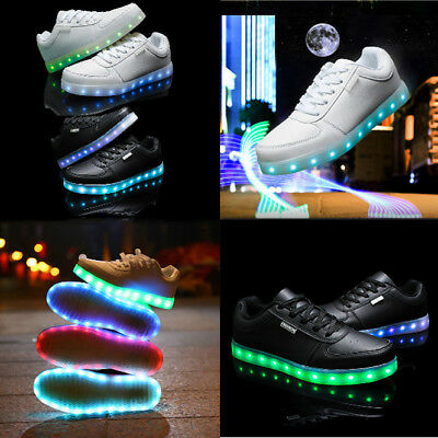 Boy's Girl's Sneakers Toddler Shoes Kids USB Lighting LED Flash Sports Shoes