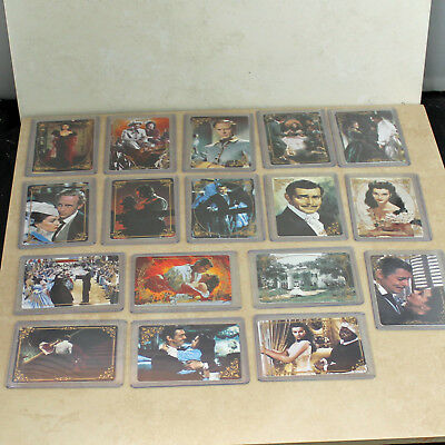Lot of 17 Gone With The Wind Porcelain Collector Cards