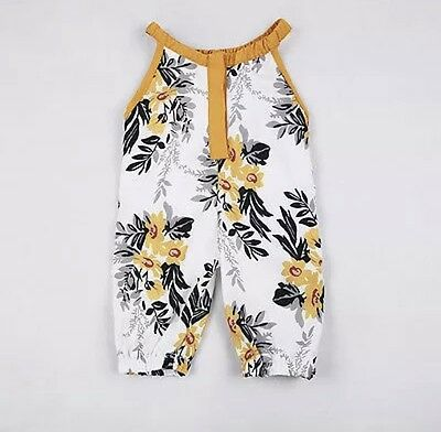 Infant Baby Girls Floral Sleeveless Romper Summer Jumpsuit Romper Clothes Outfit