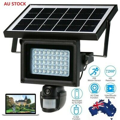 Solar Power Waterproof Outdoor Security DVR Camera With Night Vision AU Version