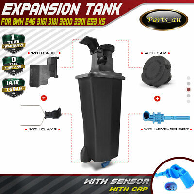 Radiator Expansion Tank for BMW E46 316i 318i 320i 330i E53 X5 With Cap&Sensor