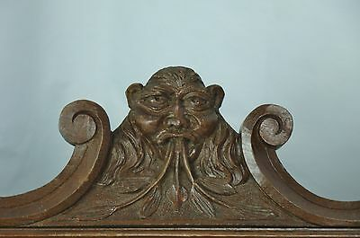 US0076 Hand Carved Pediment with devil's face