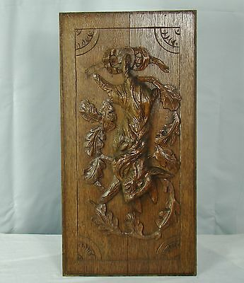 US0080 big panel masterly carved hunting hare