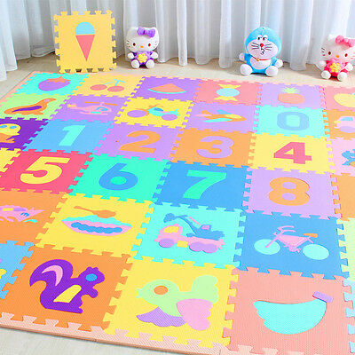 10pcs Large Size Foam Alphabet Numbers Children Soft Jigsaw Puzzle Playing Mat