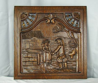 US0086 breton panel masterly carved (land scene)