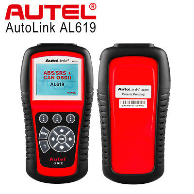 Autel Autolink AL619 OBD2 CAN Auto Diagnostic Scan Tool Code Reader For SRS ABS