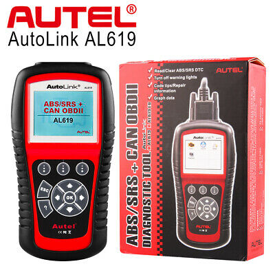 Autel AutoLink AL619 Auto Diagnostic Tool CAN Code Reader OBD2 Scanner ABS SRS