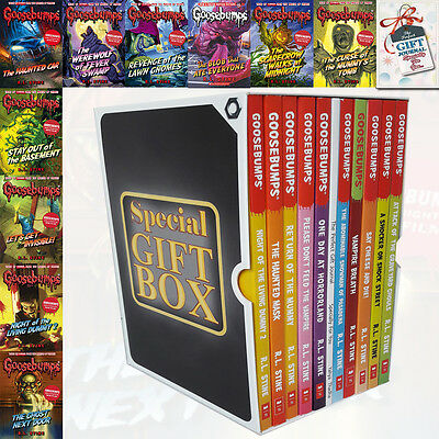 Goosebumps Series 10 Books R L Stine Collection With Journal Gift Wrapped Slipca