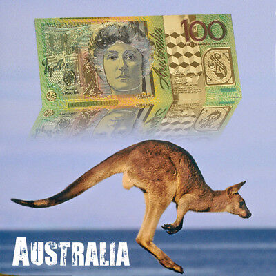 WR Australian $100 Coloured Banknote 24K Gold Foil Bank Notes Gift for Husband