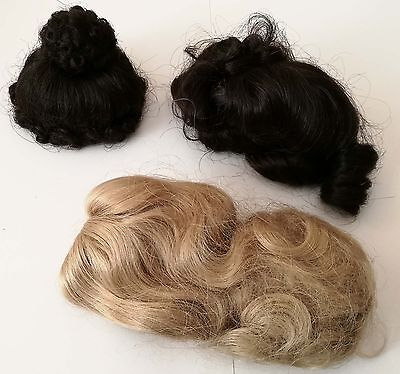 Doll Wigs 8'' set of 3