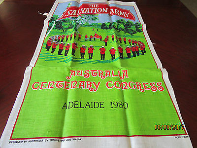 Pure Linen Tea Towel - The Salvation Army Aust. Cent. Congress  Adelaide 1980