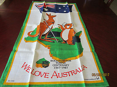 Pure Linen Tea Towel - The Salvation Army Rockhampton Temple 1887-1987