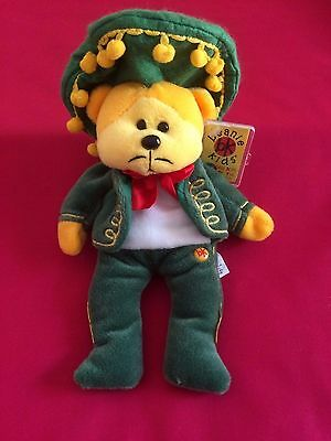 "Skansen Beanie Kids "" AMIGO the MEXICAN Bear """