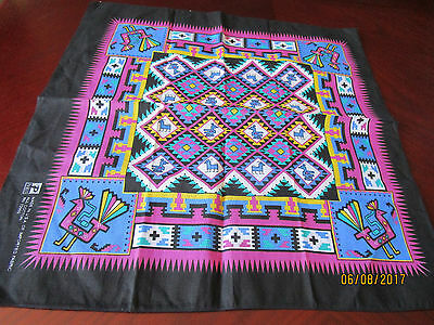 Colorful Square - 100%cotton - Made In U.s.a- R.n. 13960