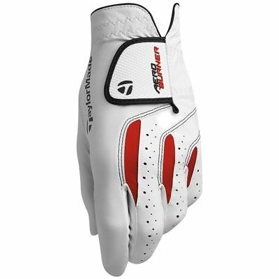 New TaylorMade AeroBurner Leather Golf Gloves - White - Choose Size
