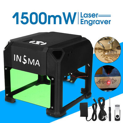 1500mW USB Laser Engraver Printer Cutter Carver DIY Logo Mark Engraving Machine