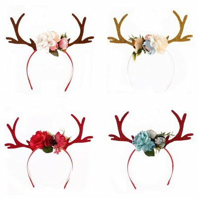 Women Kids Girs Xmas Reindeer Antlers Headband Costume Headwear Hair Accessories