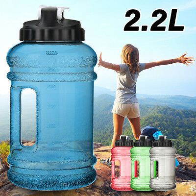 2.2L Large BPA Free Gym Training Drink Water Bottle Cap Kettle Camping Sports