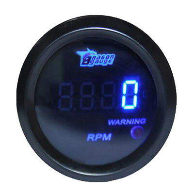 "Car Motor Truck 2"" 52mm Blue Digital LED Elec 0-9999 RPM TACHOMETER TACHO GAUGE"