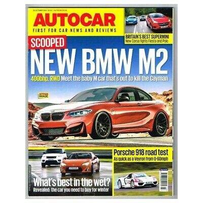 Autocar Magazine 22 October 2014 MBox2734 New BMW M2 - What's best in the wet? -