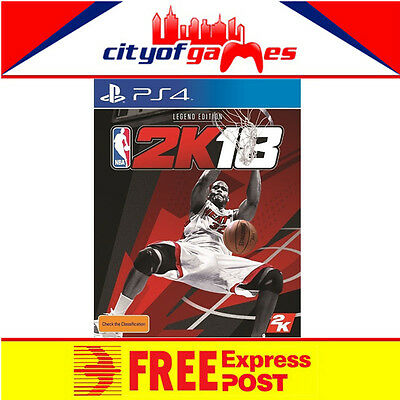 NBA 2K18 Legend Edition PS4 Game New & Sealed Free Express Post In Stock Now
